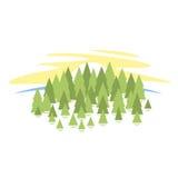 Paisaje del bosque stock de ilustración