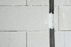 Paisaje del cable eléctrico Imagen de archivo libre de regalías