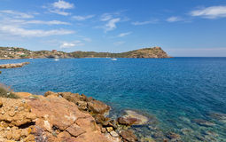 Paisaje del cabo de Sounio, Atica, Grecia Foto de archivo libre de regalías
