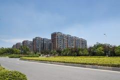 Paisaje del camino de Hongze Imagenes de archivo
