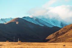 Paisaje del camino de Nueva Zelanda Imagen de archivo
