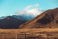 Paisaje del camino de Nueva Zelanda Fotografía de archivo