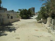 Paisaje del camino de tierra de Hurghada foto de archivo
