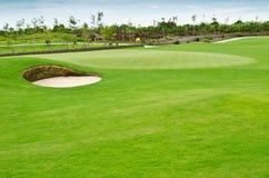 Paisaje del campo de golf Imágenes de archivo libres de regalías