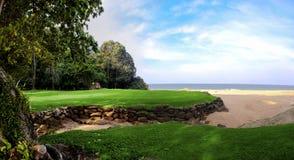 Paisaje del campo de golf Fotos de archivo