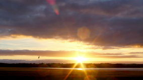 Paisaje del campo de golf de Algarve en Ria Formosa almacen de metraje de vídeo