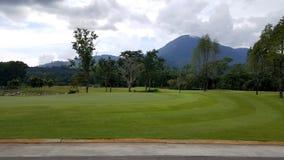 paisaje del campo de golf en el goodday Imagen de archivo
