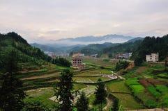 Paisaje del campo en el condado de Xinhua Imagenes de archivo