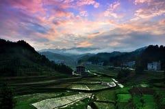 Paisaje del campo en el condado de Xinhua Imagen de archivo libre de regalías