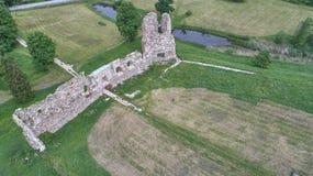 Paisaje del campo en la visión aérea Foto de archivo libre de regalías