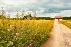 Paisaje del campo en Vantaa Imágenes de archivo libres de regalías