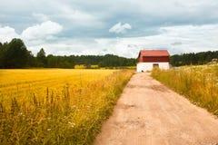 Paisaje del campo en Vantaa Imagen de archivo