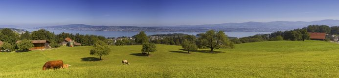 Paisaje del cantón de Zurich, Suiza Imagen de archivo libre de regalías