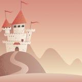 Paisaje 2 del castillo Foto de archivo libre de regalías