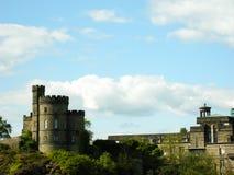 Paisaje del castillo de Edimburgo Foto de archivo libre de regalías