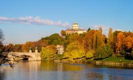 Paisaje del centro de ciudad de Turín Fotografía de archivo libre de regalías