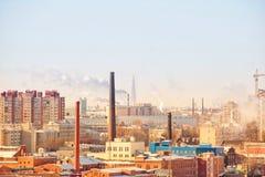 Paisaje del centro de Lakhta de St Petersburg fotografía de archivo libre de regalías