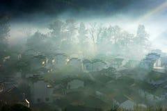 Paisaje del condado de Wuyuan fotografía de archivo