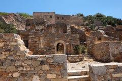 Paisaje del costline de crete de la isla del spinalonga Imagen de archivo