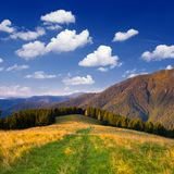 Un día hermoso en las montañas Foto de archivo libre de regalías