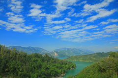 Paisaje del depósito de Nan-Hua, Tainan, Taiwán Fotografía de archivo libre de regalías