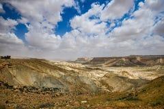 Paisaje del desierto cerca de Jerusalén, Israel Foto de archivo libre de regalías