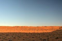 Paisaje del desierto con el cielo azul Foto de archivo