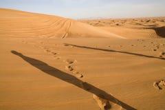 Paisaje del desierto de Dubai. Fotografía de archivo