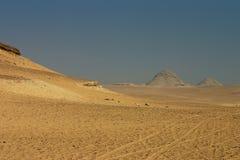Paisaje del desierto de Giza Fotografía de archivo libre de regalías