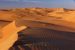 Paisaje del desierto de la duna de arena imagenes de archivo