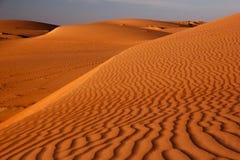 Paisaje del desierto de la duna de arena Textura de la arena imágenes de archivo libres de regalías