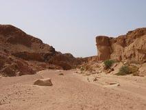 Paisaje del desierto de la península del Sinaí Imagen de archivo