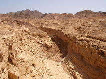Paisaje del desierto de la península del Sinaí Foto de archivo libre de regalías