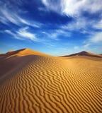 Paisaje del desierto de la tarde Imagen de archivo