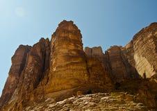 Paisaje del desierto de Wadi Rum fotografía de archivo libre de regalías