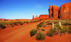 Paisaje del desierto en Arizona, valle del monumento Imágenes de archivo libres de regalías