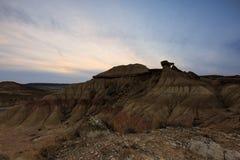 Paisaje del desierto en Bardenas Reales de Navarra Fotografía de archivo
