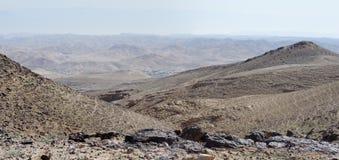 Paisaje del desierto en día nebuloso Imagen de archivo libre de regalías