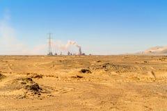 Paisaje del desierto en Egipto Fotografía de archivo