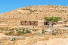 Paisaje del desierto en el desierto del Néguev de Israel Fotografía de archivo libre de regalías