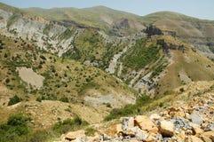 Paisaje del desierto en el Kurdistan Imagen de archivo