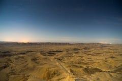Paisaje del desierto en Israel Imagen de archivo