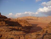 Paisaje del desierto en Jordania, Oriente Medio Foto de archivo libre de regalías