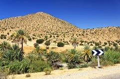 Paisaje del desierto en las montañas de Antiatlas Foto de archivo