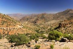 Paisaje del desierto en las montañas de Antiatlas Fotografía de archivo