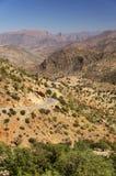 Paisaje del desierto en las montañas de Antiatlas Foto de archivo libre de regalías