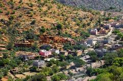 Paisaje del desierto en las montañas de Antiatlas Imagen de archivo libre de regalías