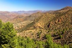 Paisaje del desierto en las montañas de Antiatlas Fotos de archivo libres de regalías