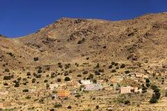 Paisaje del desierto en las montañas de Antiatlas Imagen de archivo
