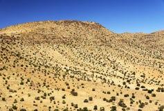 Paisaje del desierto en las montañas de Antiatlas Fotos de archivo